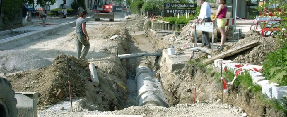 Erneuerung des Regenwasserkanals in Moorenweis