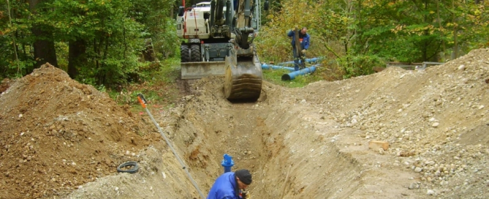 Wasserleitung Brunnen IV Landsberied