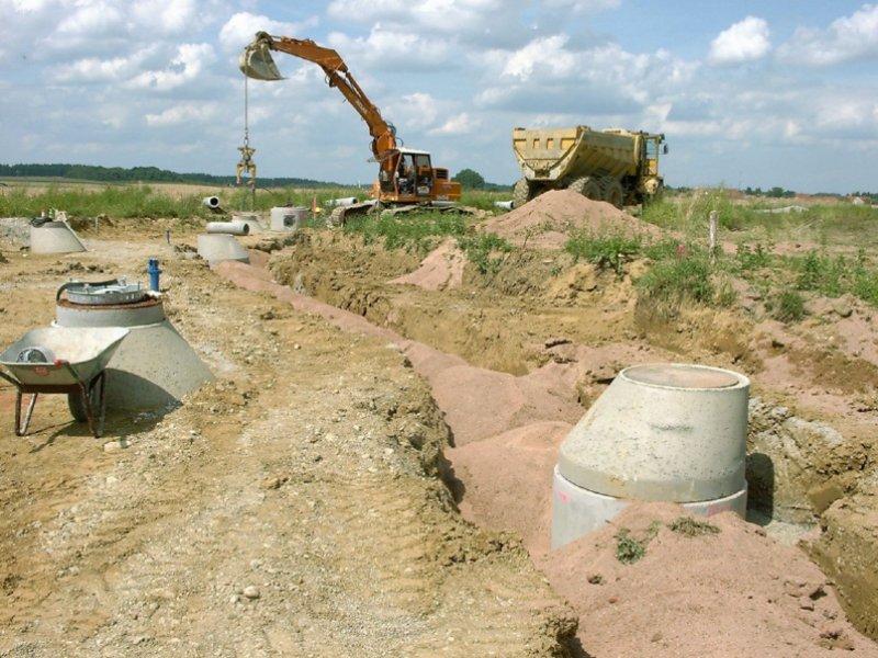 Neubau Kanalisation Baugebiet in Grunertshofen